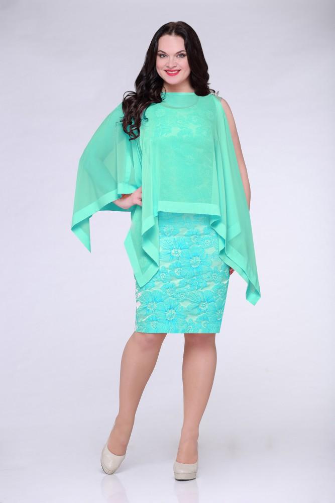 Фото платья с накидкой